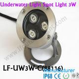 des Wasser-3W des Beweis-LED helles Unterwasserlicht Wasser-Brunnen-des Geräten-LED