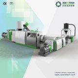Sistema a due tappe di pelletizzazione e di riciclaggio per il film di materia plastica/sacchetti