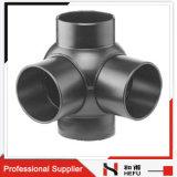 Branchement de bille de double de bonne qualité ajustage de précision de pipe de HDPE de 90 degrés