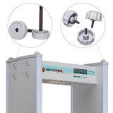 Waagerecht ausgerichteter beweglicher Metalldetektor der LED-Bildschirmanzeige-200 mit LED-Warnungs-Lichtern