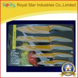 6PCS pp. Handdrucken-Küche-Messer stellte mit Halter ein (RYST026C)