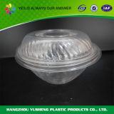 Contenitore del coperchio provvisto di cardini plastica trasparente, ciotola di insalata per eliminare
