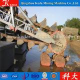 良い業績の信頼できる川のバケツの鎖の砂の金鉱山の浚渫船