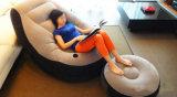 Bon marché flocage du sofa gonflable avec les meubles extérieurs d'intérieur de maison gonflable de présidence d'air de repose-pieds