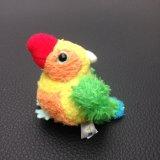 Brinquedo 6-8cm pequeno colorido do luxuoso do papagaio