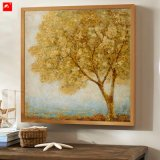 Nieuwe Twee van de Kunst van het Gouden Stukken Olieverfschilderij van de Bomen