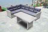 Garden Patio Rattan Wicker Outdoor Furniture Loungest Sofa Table en verre (J725)
