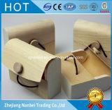 Pequeño rectángulo de madera de la corteza del rectángulo del jabón de la insignia de encargo