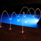 Fonte laminar da decoração colorida da água da música