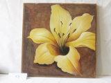Hermoso patrón decorativo del hogar Lily lienzo cuadro colgado