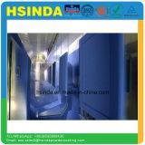 Sistema de revestimento em pó de pigmento azul Prateleiras de supermercado Revestimento em pó de MDF