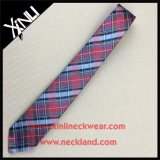 Dry-Clean Only Plaid Pattern 100% Jacquard de seda tejida Tie