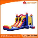 ' castillo de salto inflable de la diapositiva del PVC 23 combinado para los cabritos (T3-202)