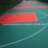 Entfernbarer Sicherheitskreis-beweglicher Sport-Plastikbasketball-Bodenbelag