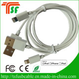 Mfi autorizou o tipo multi cabo positivo do USB do Pin do telefone móvel C48 8 da fábrica do carregador da sincronização dos dados do USB do iPhone 7/iPhone 7