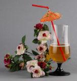 Paille flexible en plastique avec la décoration de parapluie