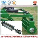 Double type télescopique temporaire de cylindre cylindre hydraulique pour le cylindre de machines agricoles