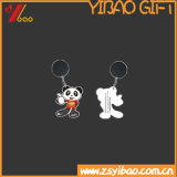 금속 열쇠 고리 선물 (YB-HD-194)를 가진 동물 PVC 열쇠 고리