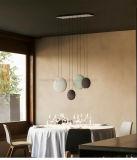 Resina caliente de la venta 2017 y lámparas pendientes de acrílico para los cuartos LED que dan iluminaciones