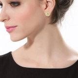 도금된 여자 18k 금은 지르코니아 귀걸이 장식 못을 포장한다