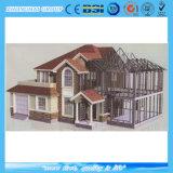 Casa de campo móvel do aço da luz da casa