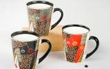 Tazza di ceramica del ricordo 12oz di disegno in bianco e nero con il cucchiaio