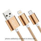 El nilón aisló la fábrica de China del cable del USB de 8 Pin