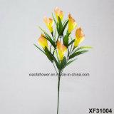 Solo vástago de la flor artificial/plástica/de seda del lirio de Clla (XF31004)