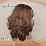Silk верхний тип парик парика женщин белокурого цвета Muti длинний прямой