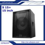 Определите диктора Subwoofer звукового оборудования 15 дюймов профессионального (s 15+)