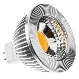 la decoración ahuecada 220V LED de la luz del punto del proyector AC110V LED de la MAZORCA de 6W Dimmable LED enciende alta calidad ningún parpadeo