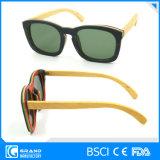 Bescherm de Magnetische Trendy Ontwerp Gepolariseerde Zonnebril van het Bamboe Eyewear met Geval
