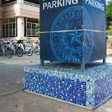 Blue Tile Mosaico de cristal