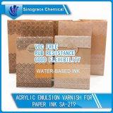 Barniz de acrílico de la emulsión de la buena flexibilidad para la tinta de papel
