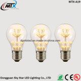 MTX lámpara LED e27 bombilla LED luces de la cadena de Navidad 110V 220V bombilla filamento g95 vacaciones luces decoración de Navidad para el hogar