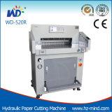 Berufshersteller (WD-520R) Programm-Steuerung hydraulische Papierausschnitt-Maschine