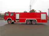 HOWO 6X4 LHD/Rhd 20000liter 물 거품 탱크 화재 싸움 트럭
