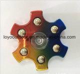 Brinquedos do esforço dos brinquedos das mordaças do giroscópio do dedo do EDC do girador do metal do brinquedo da inquietação da mão anti para brinquedo da inquietação do autismo e do girador de Adhd o tri