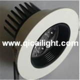 interpréteur de commandes interactif DEL Downlight de 3X1w White+Black