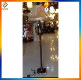 Lampe d'étage conçue simple de résine pour l'intérieur avec l'ombre de tissu