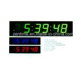Relojes de tiempo grandes de interior eléctricos de la pared del LED Digital para los ancianos