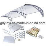Luifel van de Deur van het Polycarbonaat van het euro-ontwerp DIY de Openlucht Duidelijke Plastic (yy1000-c)