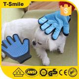 2 в 1 перчатке любимчика холить перчатки чистки щетки волос любимчика