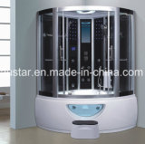 sauna de canto do vapor de 1300mm com Jacuzzi e chuveiro (AT-0212)
