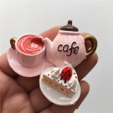 3D漫画のコーヒーカップの記念品の昇進のギフト冷却装置磁石