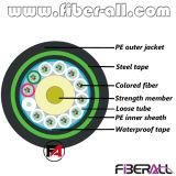 Le câble GYTY53 de fibre optique extérieur a échoué deux couches du PE 96f