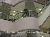 Corrimão feito sob encomenda do corrimão de Shopingmall do hotel da coluna da balaustrada da escada do aço inoxidável