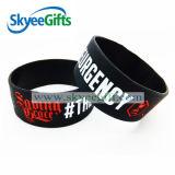 Bracelet en caoutchouc fait sur commande de bracelet et de silicones