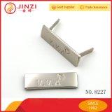Fábrica de China que faz Tag do logotipo da marca do metal para vestuários/sacos/tampões/que vestem-se