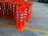 Orange Farbe PU-flexibler Verkehrwarnender Delineator-Pfosten